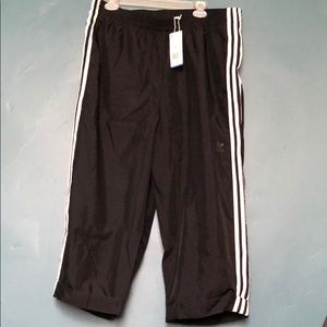 Adidas track pants sheer legs w/short underneath